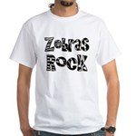 Zebras Rock Zebra Zoo Animal White T-Shirt