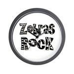 Zebras Rock Zebra Zoo Animal Wall Clock