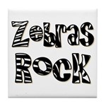 Zebras Rock Zebra Zoo Animal Tile Coaster