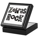 Zebras Rock Zebra Zoo Animal Keepsake Box