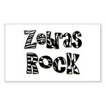 Zebras Rock Zebra Zoo Animal Rectangle Sticker