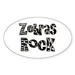 Zebras Rock Zebra Zoo Animal Oval Sticker