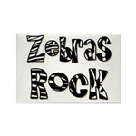Zebras Rock Zebra Zoo Animal Rectangle Magnet (100