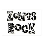 Zebras Rock Zebra Zoo Animal Postcards (Package of