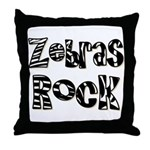 Zebras Rock Zebra Zoo Animal Throw Pillow