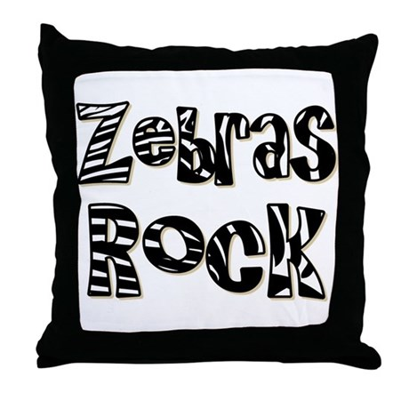 Zoo Animal Pillows : Zebras Rock Zebra Zoo Animal Throw Pillow by solopress