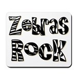 Zebras Rock Zebra Zoo Animal Mousepad
