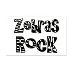 Zebras Rock Zebra Zoo Animal Mini Poster Print