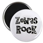 "Zebras Rock Zebra Zoo Animal 2.25"" Magnet (10 pack"