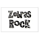 Zebras Rock Zebra Zoo Animal Large Poster