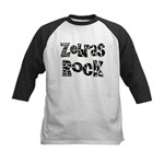 Zebras Rock Zebra Zoo Animal Kids Baseball Jersey
