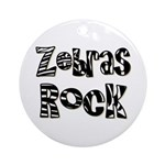 Zebras Rock Zebra Zoo Animal Ornament (Round)