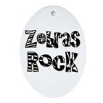 Zebras Rock Zebra Zoo Animal Oval Ornament