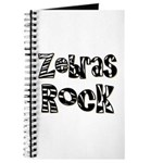 Zebras Rock Zebra Zoo Animal Journal