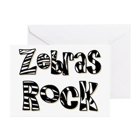Zebras Rock Zebra Zoo Animal Greeting Cards (Pk of