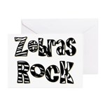 Zebras Rock Zebra Zoo Animal Greeting Cards (Pk of