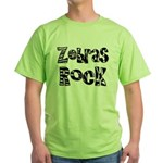 Zebras Rock Zebra Zoo Animal Green T-Shirt