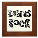Zebras Rock Zebra Zoo Animal Framed Tile
