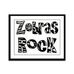 Zebras Rock Zebra Zoo Animal Framed Panel Print