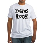 Zebras Rock Zebra Zoo Animal Fitted T-Shirt