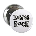 "Zebras Rock Zebra Zoo Animal 2.25"" Button (100 pac"