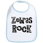 Zebras Rock Zebra Zoo Animal Bib
