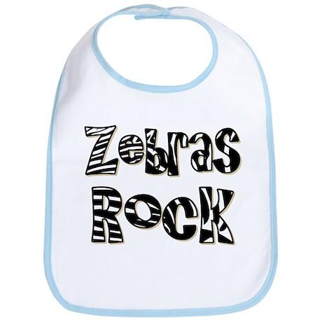 Zebras Rock Zebra Zoo Animal Bib