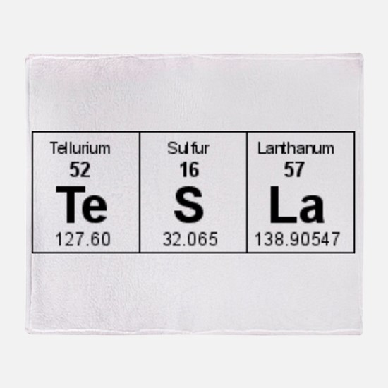 Funny Periodic table of elements Throw Blanket