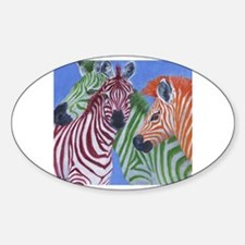 Cute Zebra eye Sticker (Oval)
