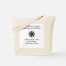 Ninja Bartender Tote Bag