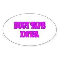 Duct Tape Diva Oval Decal