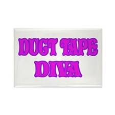 Duct Tape Diva Rectangle Magnet