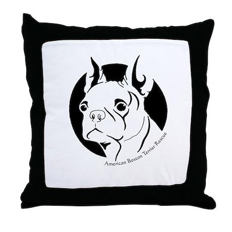 B&W Boston Throw Pillow