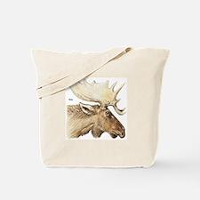 Moose Antler Head Tote Bag