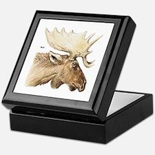 Moose Antler Head Keepsake Box