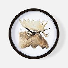 Moose Antler Head Wall Clock
