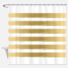 Gold And Silver Shower Curtain GOLD SILVER CHEVRON Shower