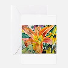 Tiger Lily Original Watercolor Greeting Cards