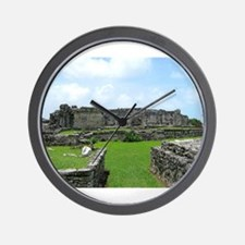 Ruins of Tulum Wall Clock