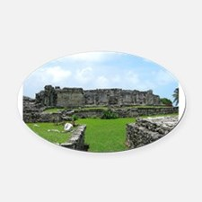 Ruins of Tulum Oval Car Magnet