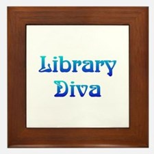 Library Diva Framed Tile