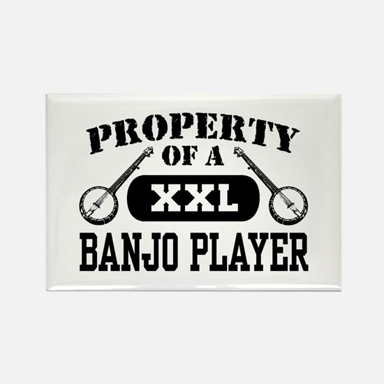 Property of a Banjo Player Rectangle Magnet