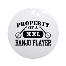 Property of a Banjo Player Ornament (Round)