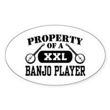 Property of a Banjo Player Oval Decal