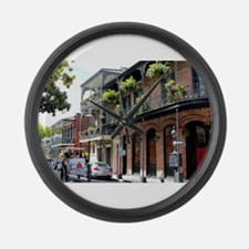 French Quarter Street Large Wall Clock
