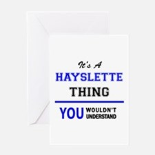 It's a HAYSLETTE thing, you wouldn' Greeting Cards