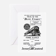 The Blue Comet Greeting Card