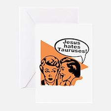 Rude Funny TAURUS Greeting Cards (Pk of 10)