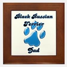 Black Russian Dad3 Framed Tile