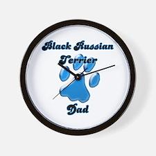 Black Russian Dad3 Wall Clock